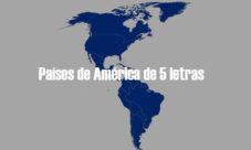 Países de América de 5 letras
