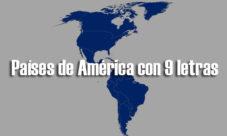 Países de América con 9 letras