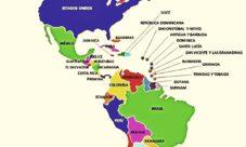 Mapa de América con nombres