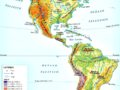Mapa de relieve de América