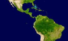 Mapa satelital de América