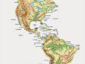 Mapa de América con sus accidentes geográficos