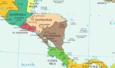 Mapa de Centroamérica y sus países