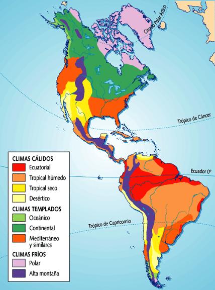 Mapa de climas de América