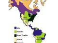Mapa de las regiones naturales de América