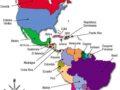 Mapa del contienente americano