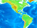 Mapa topográfico de América